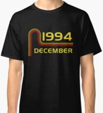 December Vintage Retro Birthday  1994  23rd T-Shirt Sweater Hoodie Iphone Samsung Phone Case Coffee Mug Tablet Case Gift Classic T-Shirt
