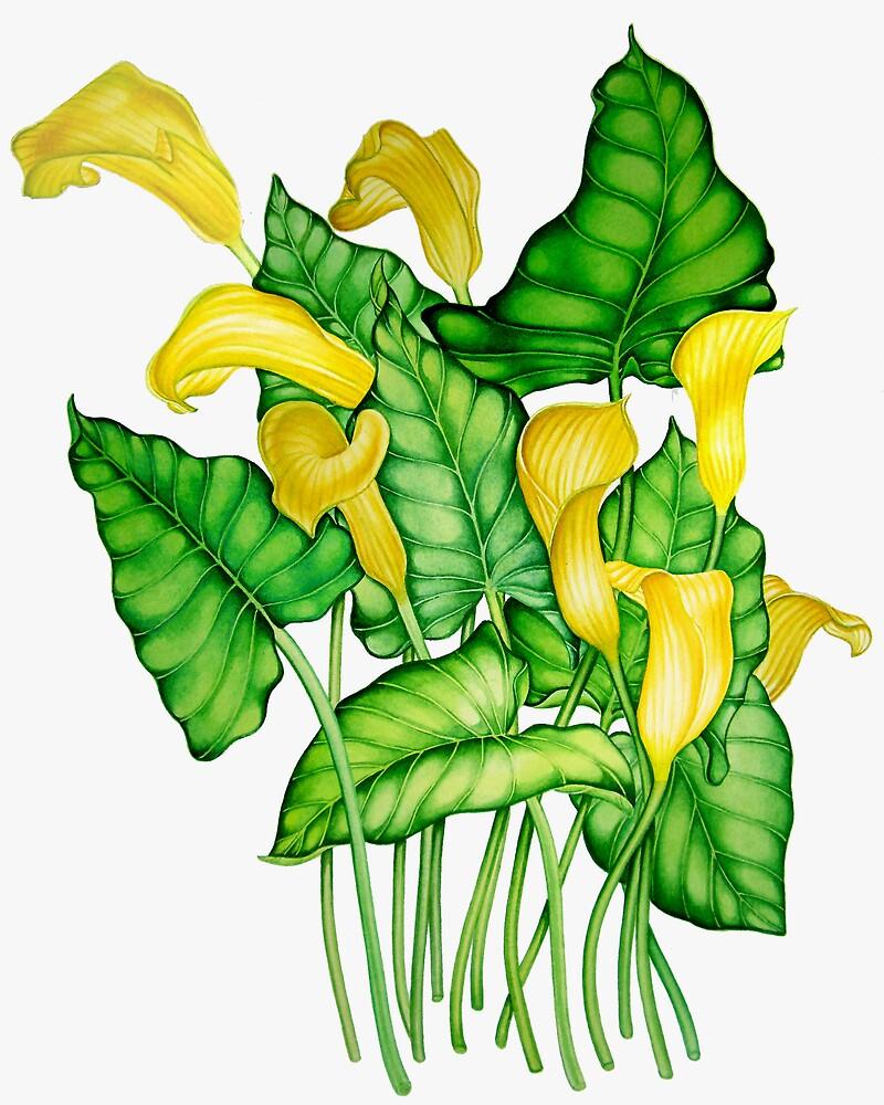 Yellow Lilies by joeyartist