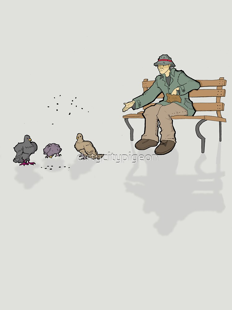 DCP. feeding the pigeons by dirtycitypigeon