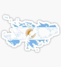 Argentine Flag Map of Islas Malvinas Sticker