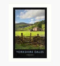 Yorkshire Dales Railway Poster Art Print