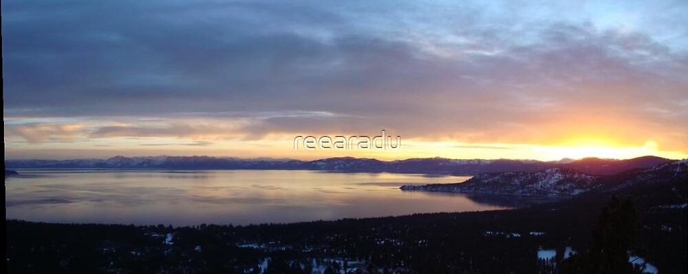 Panorama of Lake Tahoe by reearadu