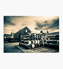 Empty Casks In The Springbank Yard Photographic Print