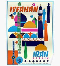 IRAN PERSIA : Vintage Tourism Advertising Print Poster