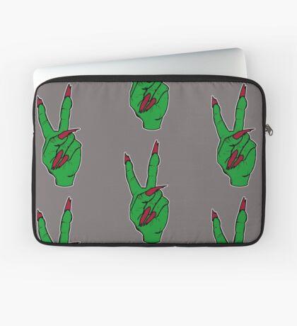 Witch making the peace sign Laptop Sleeve