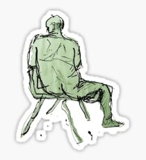 Nude Model on a chair Sticker