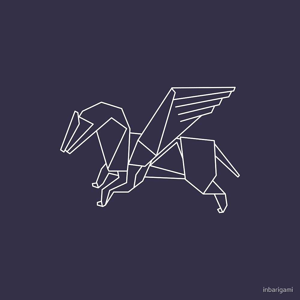 Origami Pegasus By Inbarigami Redbubble