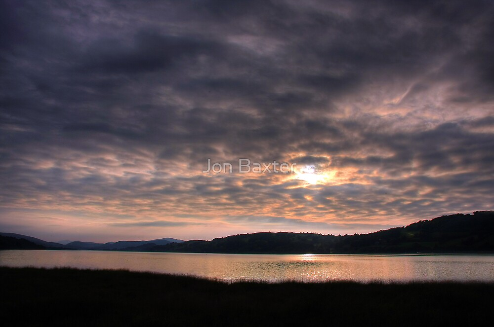sunset over bala lake  by Jon Baxter