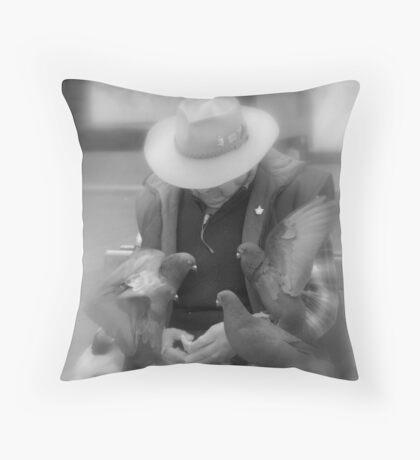 Bird Man Throw Pillow