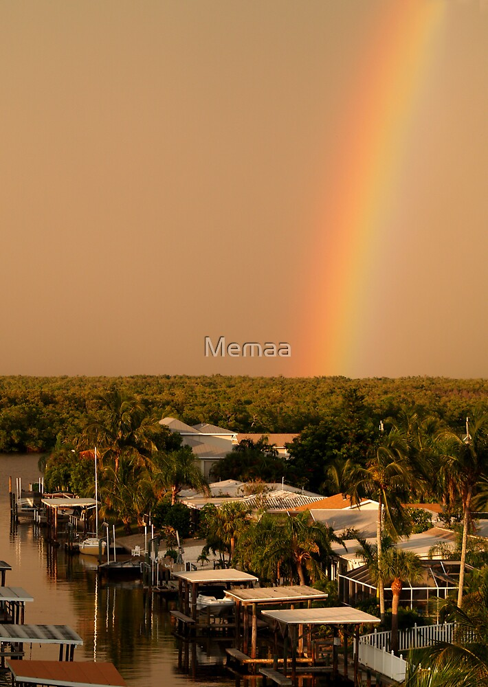 Rainbow Arching Into the Sky by Memaa