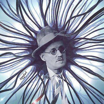 James Joyce | Digital collage | Ulysses  by zmudart
