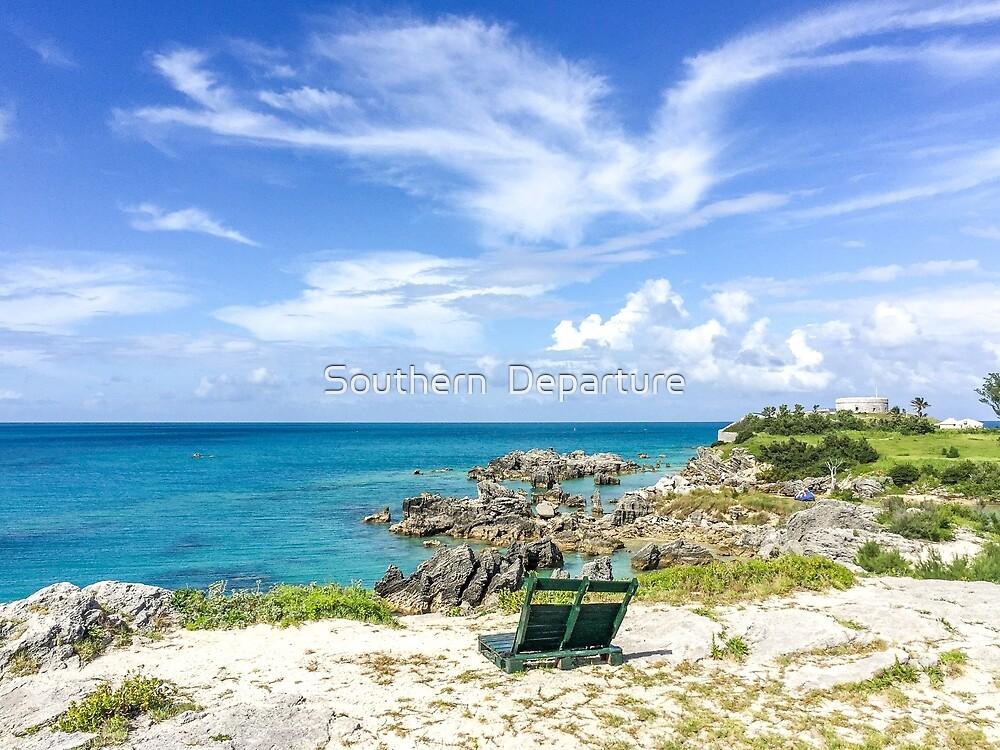 Blue ocean, blue sky  by Southern  Departure
