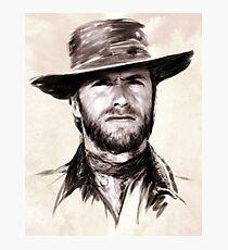 Clint Eastwood portrait Photographic Print