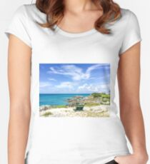 Blue ocean, blue sky  Fitted Scoop T-Shirt