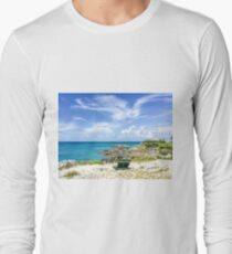Blue ocean, blue sky  Long Sleeve T-Shirt