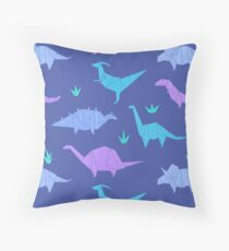 Origami Dinosaurs Throw Pillow