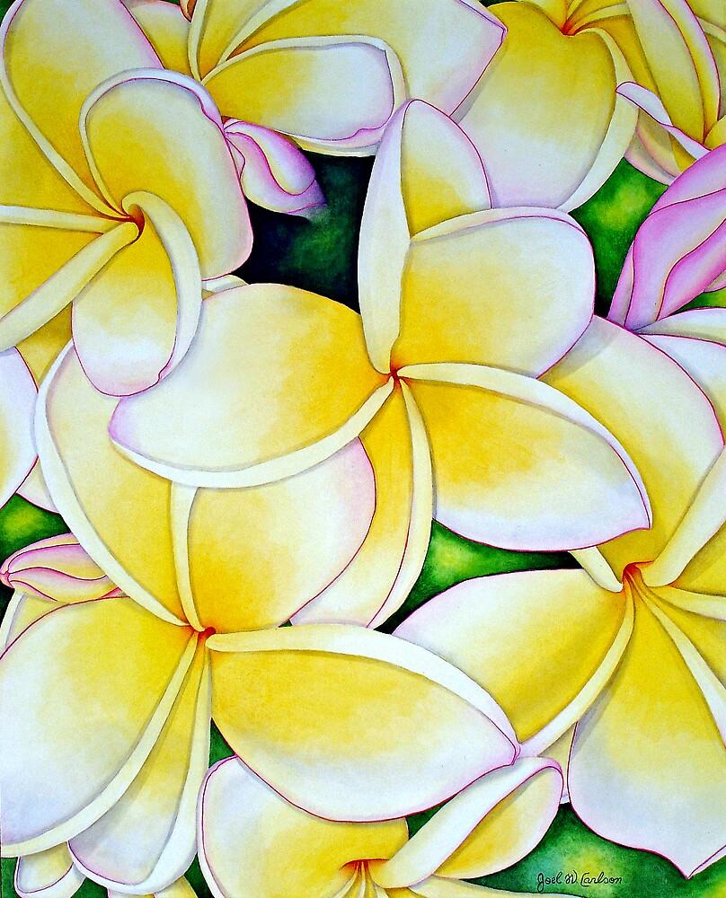 Yellow and White Frangipani by joeyartist
