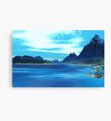 Legend of the Blue Loch Canvas Print