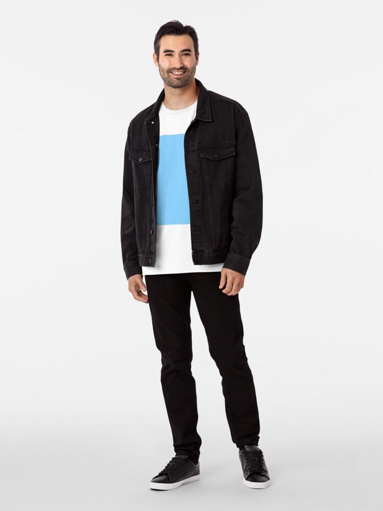 Alternate view of Solid Colour   Plain Light Sky Blue  Blue Premium T-Shirt