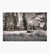 Volvo in the Snowstorm Photographic Print