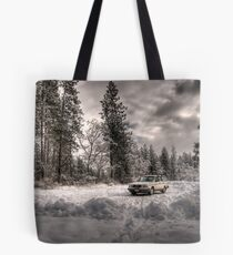 Volvo in the Snowstorm Tote Bag