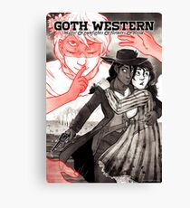 GOTH WESTERN Poster Canvas Print