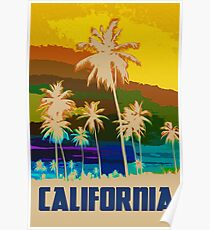 California, Sunset Sky Poster