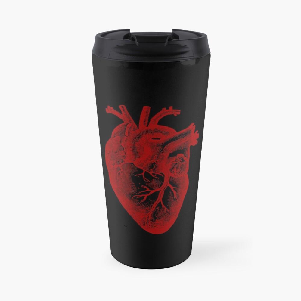 Vintage Heart Anatomy Travel Mug