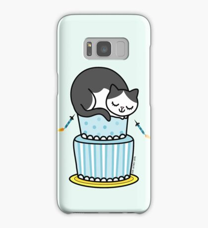 Birthday Cake with Cat Samsung Galaxy Case/Skin