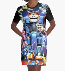Mega Man III Restored From Nintendo Power Poster - New from Vintage Original Graphic T-Shirt Dress