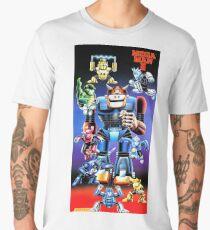 Mega Man III Restored From Nintendo Power Poster - New from Vintage Original Men's Premium T-Shirt