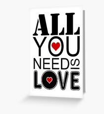 Beatles greeting cards redbubble all you need is love greeting card m4hsunfo Choice Image