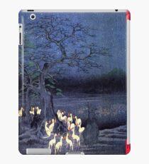 Japanischer Druck - Hiroshige - Kitsune-Yokai-Fuchs iPad-Hülle & Klebefolie