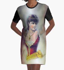 half lady illusion, digital-manipulated T-Shirt Kleid