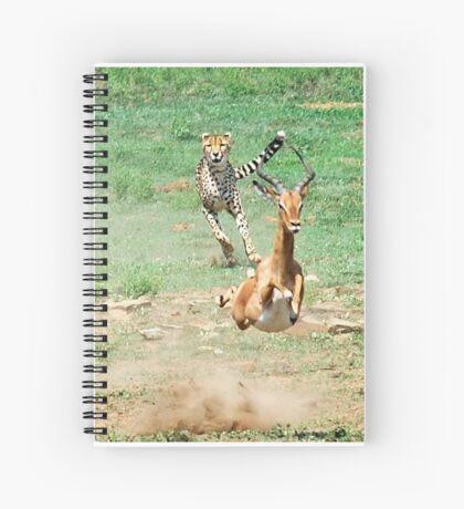 A DAY IN THE LIFE OF A CHEETA - CAPTURE SIX - CHEETAH – Acinonyx jabatus – Die Jagluiperd Spiral Notebook