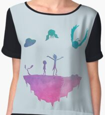 Rick and Morty silhouette Women's Chiffon Top