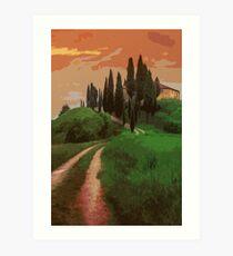 Tuscany, fairy landscape Art Print
