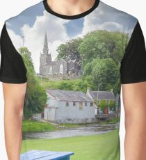 blue bench at castletownroche park Graphic T-Shirt