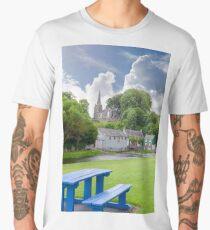 blue bench at castletownroche park Men's Premium T-Shirt