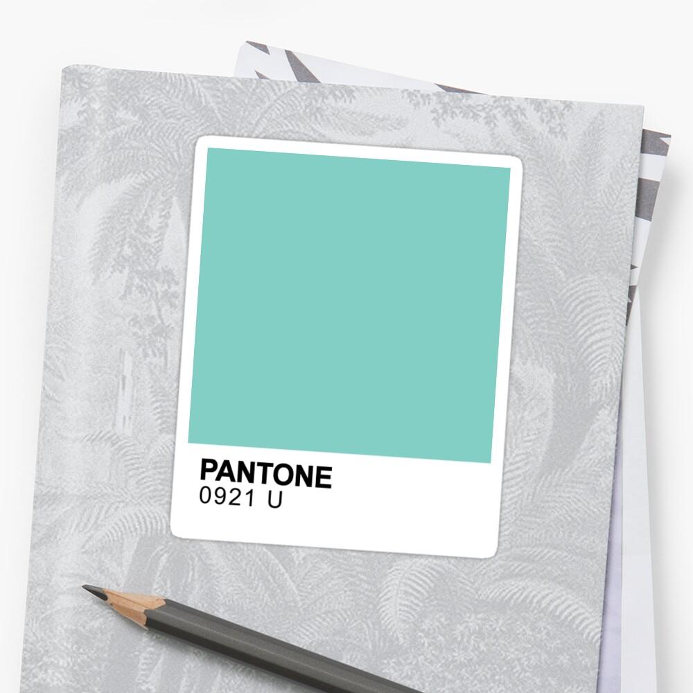 Pantone Blau Sticker
