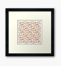 funny corgi pattern Framed Print