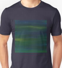 Blue Green Peacock Oil Abstract  Unisex T-Shirt