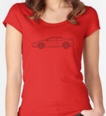 Lotus Esprit S4 V8 Outline Drawing Women's Fitted Scoop T-Shirt