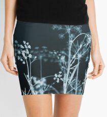 Still of the Night. Elegant Dark Floral Mini Skirt