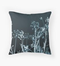 In the Still of the Night. Dark Floral Floor Pillow