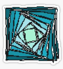 Twisty Pyramid from above Sticker