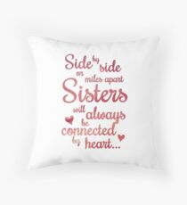 Sisters Side by Side Throw Pillow