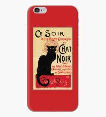 The black cat, le chat noir famous art nouveau ad  iPhone Case