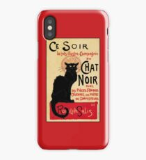 The black cat, le chat noir famous art nouveau ad  iPhone Case