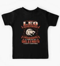 Gag Gift For Leo Born With My Heart On My Sleeve Leo Gifts Kids Clothes